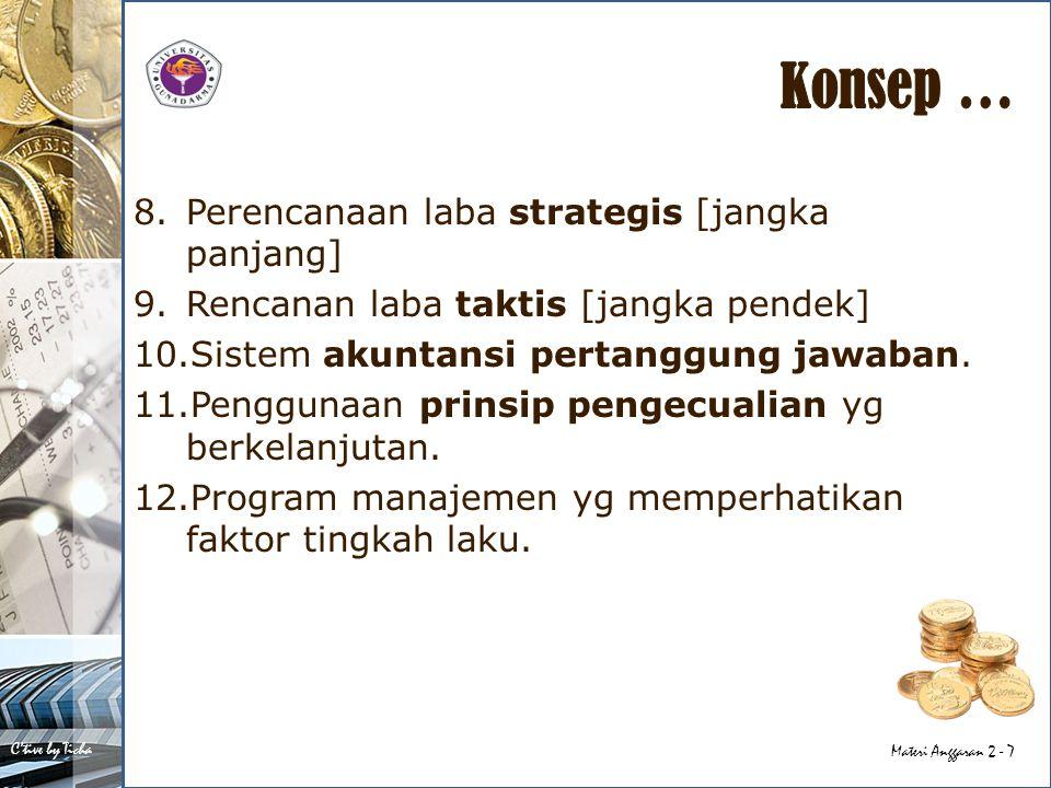 Konsep … Perencanaan laba strategis [jangka panjang]